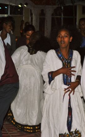 Traditional Ethiopian dancers.